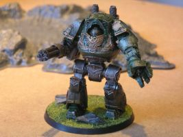 Dark angels Contemptor Dreadnought by Nik0410