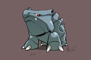 Rhyhorn 111 by lord-phillock