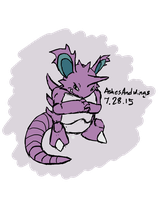 Nidoking :: July 28 by AshesAndWings