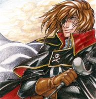 Captain Harlock by ninjafaun