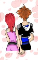 Happy V day Sora x Kairi by S2En-JayS2