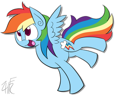 Dash Dash Rainbow by wildberry-poptart