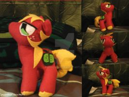Big Macintosh Fleece Plushie by puppiebear