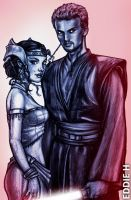 Padme and Anakin - Star Wars by EddieHolly