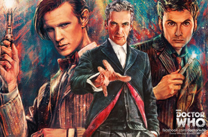 Doctor Who Titian Comic. 10th,11th and 12th Doctor by 999sian