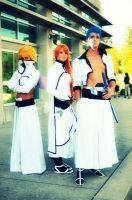 Grimmjow, Orihime and Halibel by Satsuma-Lights