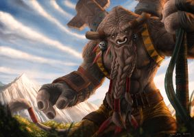 World of Warcraft Tribute Cairne Bloodhoof by NOOSBORN
