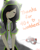Thank You for 40+ Watchers! by NanamiNeko