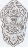 Celtic Design Thor Hammer Tat2 by 2Face-Tattoo