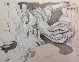 Dragon and Maiden Completed by berniecooke