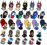 Crimson Society Pallete Swaps Set 2 by TheSpiderManager