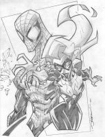 Spider-Man and Black Cat by OhhhSweetGeesus