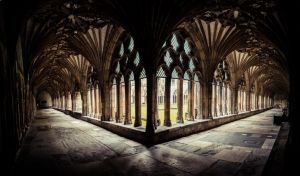 Canterbury Cathedral inner yard 1 by DanielGliese