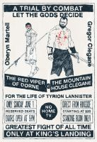The Red Viper of Dorne vs The Mountain by jerryma