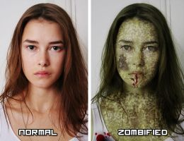 Zombified Girl by ImSerious