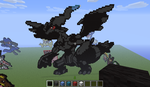 zekrom - minecraft pixel art by Rest-In-Pixels