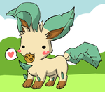 Leafeon Dress-Up by DiscoUmbreon