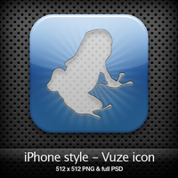 iPhone style - Vuze icon by YaroManzarek