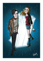 The Doctor and Amy. by stayte-of-the-art