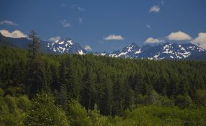 Olympic Mountains by metacom