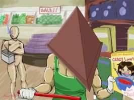 Pyramid Head goes shopping by neoanimegirl