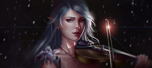The Violinist by Aoleev