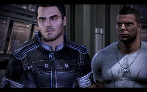 Kaidan Alenko and James Vega by donabruja
