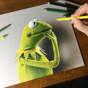 Kermit the frog, a tribute to Jim Henson by marcellobarenghi