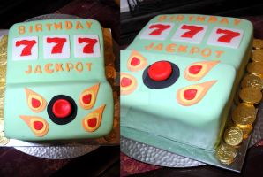 Slot Machine Cake by HaileesSweets