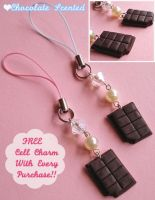 Chocolate Bar Cell Charms by FatallyFeminine