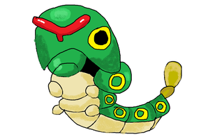Caterpie Drawing by PIZZAPIE97
