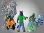 my pokemon team by Yiffy-Wolf  (fa) by brawl9977