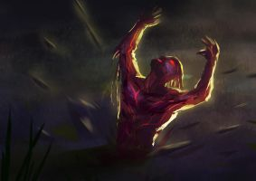 Daily Spitpaint - Rising from the grave by jackfrozz