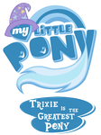 Fanart - MLP. My Little Pony Logo - TGAP Trixie by jamescorck