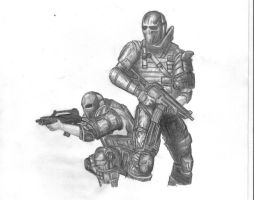 Army of Two - Pencil by killerconfessions