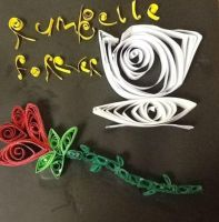 Rumbelle paper Quilling by spoilers-and-bowties