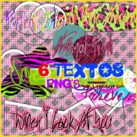 6 Textos PNG by ImustbeParanoid