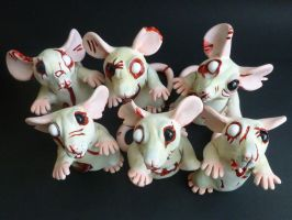 Zombie Rats Batch 2 by philosophyfox