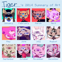 2014 summary (i only included drawings of nathan) by ribless
