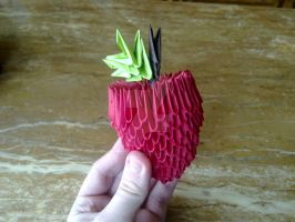 Origami apple by KibaPandaRo
