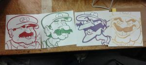 Mario/Wario(?) Bros. set by MJRainwater