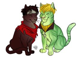 Billy and Teddy Cats by furious-teapot