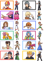 My gym leaders and elite four by Sindorman