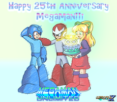 Happy 25th Anniversary Megaman! by MegaPhilX