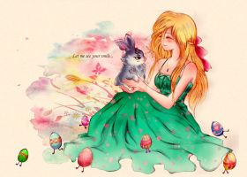 Sophie and Little bunny by Kaning-mama