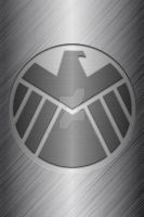 Metalic S.H.E.I.L.D logo background by KalEl7