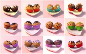 A lot of muffins by ciasteczkatynki