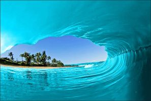 Cyan Wave by Artemis850