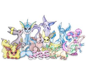 Eeveelutions! by ShonaMaryDesigns