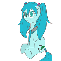 Hatsune Miku - Pony version. by TastyPony